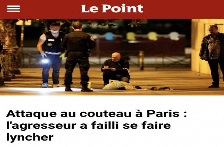 Attaque islamiste au couteau à Paris : Aziz Zemouri, journaliste du Point, n'a retenu que «l'agresseur a failli se faire lyncher»… exit les 7 blessés graves !
