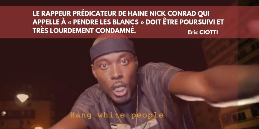 « Je b**** la France jusqu'à l'agonie », aucune poursuite judiciaire contre Nick Conrad, le Parquet classe sans suite