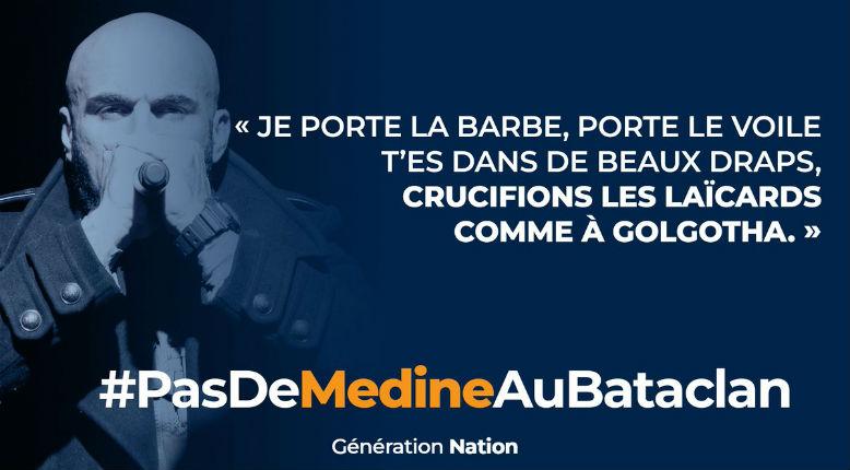 Le Bataclan annule les concerts du rappeur islamiste Médine. La profanation n'aura pas lieu, une victoire pour la mémoire des victimes des attentats