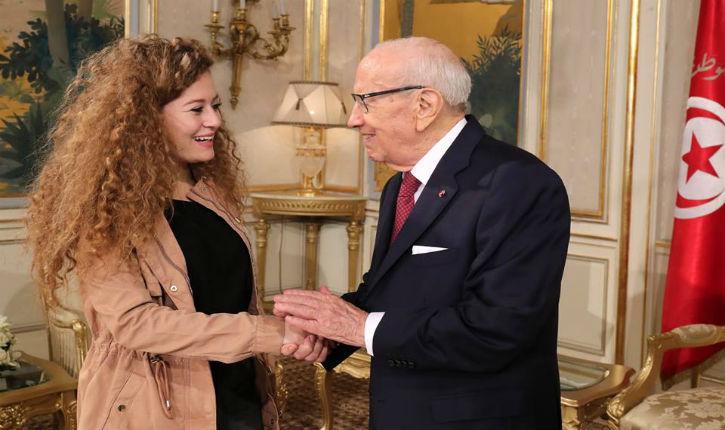 Le Président tunisien, 93 ans, tombe sous le charme de l'icône du terrorisme palestinien