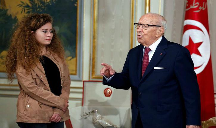 Vidéo : le président tunisien a encouragé Ahed Tamimi à continuer dans la voie de la violence