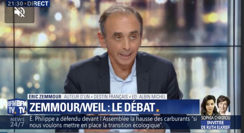 Débat Zemmour – Weil : la transformation de la société française par l'immigration de masse extra-européenne « a déjà commencé » (Vidéo)