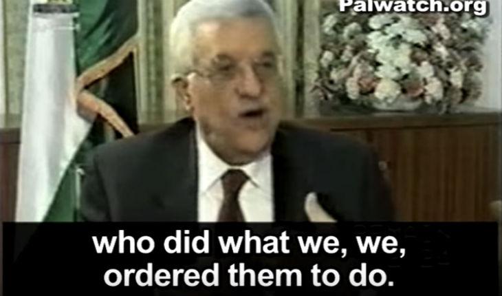 Quand Mahmoud Abbas avouait avoir envoyé des terroristes tuer des Israéliens «Ils ont fait ce que nous leur avons ordonné de faire» (Vidéo)
