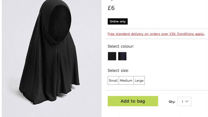 Des voiles islamiques pour petites filles vendus par la chaîne de magasins Marks & Spencer