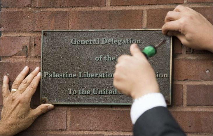 Fermeture des bureaux de la délégation de l'OLP palestinienne à Washington
