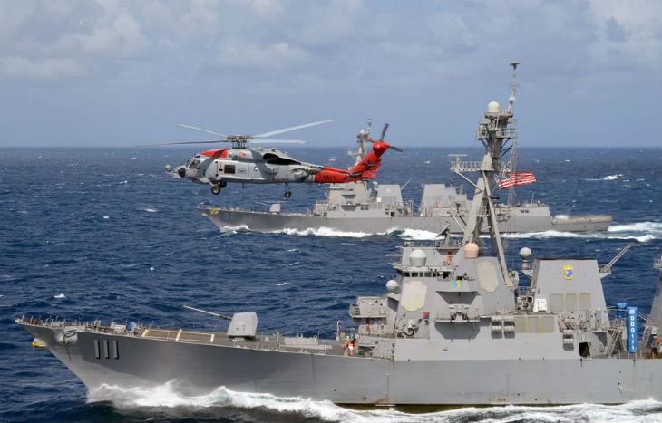 Face-à-face «dangereux» entre un navire de guerre chinois et un destroyer américain