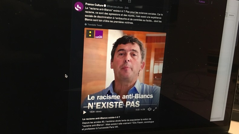 Désinformation à France Info et France Culture : «Le racisme anti-Blancs n'existe pas, ça n'a pas de sens». Et vous qui le subissez qu'en pensez vous ? (Vidéo)