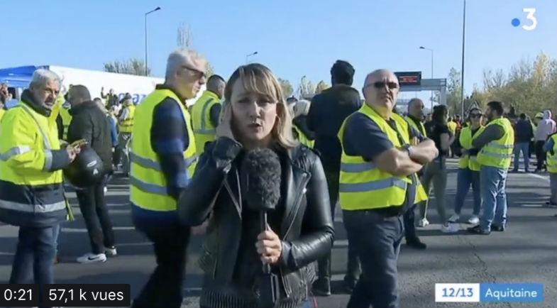 Quand France 3 censure une journaliste qui évoque les menaces et la violence des policiers/CRS à l'égard des gilets jaunes