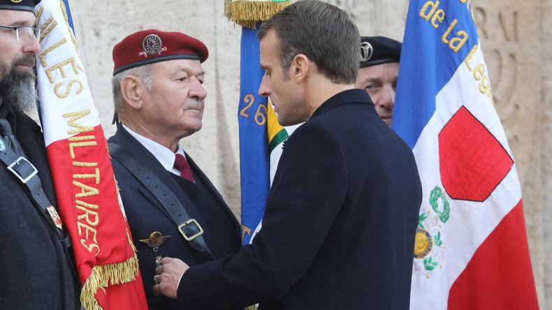 «Quand mettrez-vous les sans-papiers hors de chez nous ?» : un ancien combattant interpelle Macron