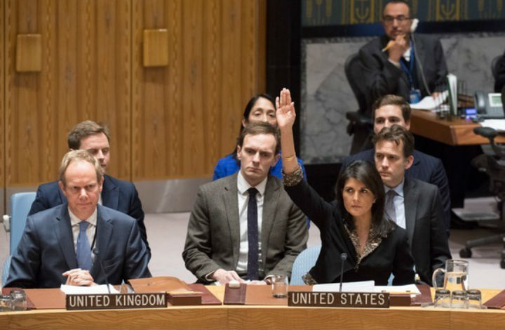 Les États-Unis votent contre la résolution de l'ONU sur la présence d'Israël dans le Golan «La résolution est clairement biaisée contre Israël»