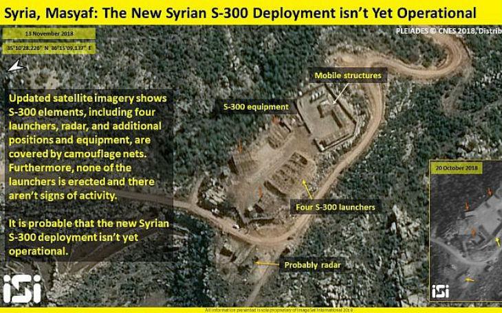 Satellites israéliens : des images indiquent que les S-300 livrés à la Syrie ne sont pas encore opérationnels