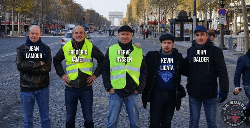Gilets jaunes : une brochette d'antisémites notoires et de fans de Dieudonné et de Faurisson sur les Champs Elysées
