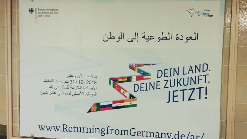 L'Allemagne lance une campagne pour inviter les migrants à rentrer chez eux