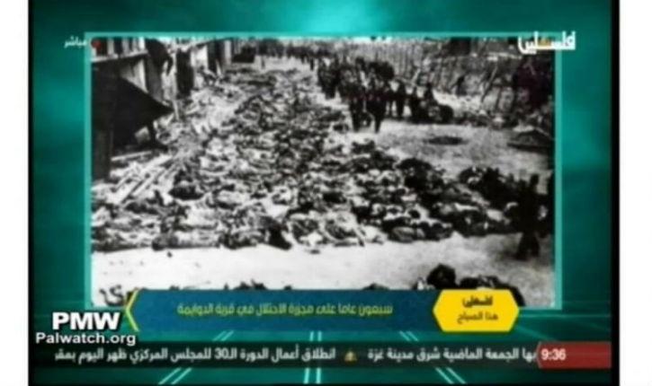 Propagande antisémite: la télévision de l'Autorité Palestinienne détourne des images de la Shoah