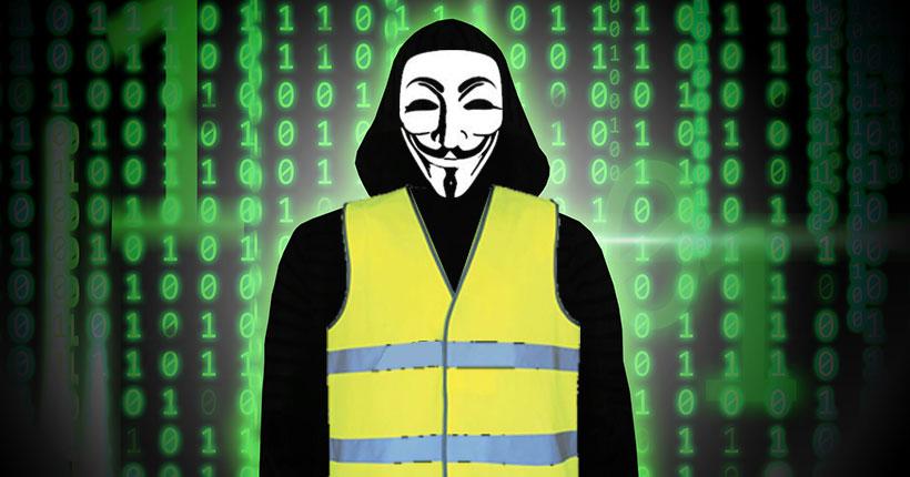 Des anonymous rejoignent les Gilets Jaunes ?