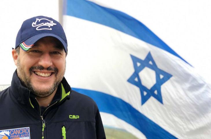 Salvini accuse l'UE d'être anti-israélienne «Quiconque veut la paix soutient Israël, rempart de sécurité pour les valeurs européennes et occidentales»