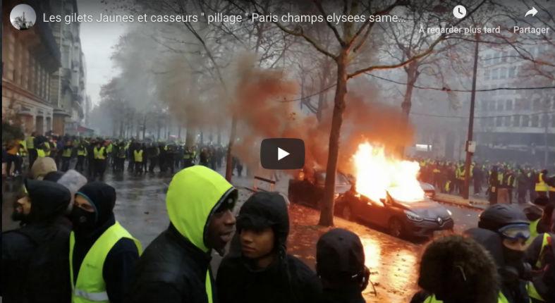 """[Vidéo] """"Gilets jaunes"""" : une racaille libérée se vante d'avoir pillé et promet de récidiver. La «justice» libère les racailles… pas les militants"""