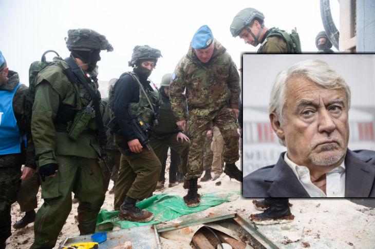 Israël: Claude Goasguen, de la commission des affaires étrangères française «Les forces de l'ONU dans la région, la FINUL, sont neutralisées et ne font rien pour empêcher la menace des tunnels»