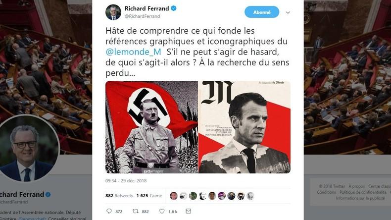 Posture d'Hitler et évocations nazies : Le Monde fait sa couverture sur Macron…