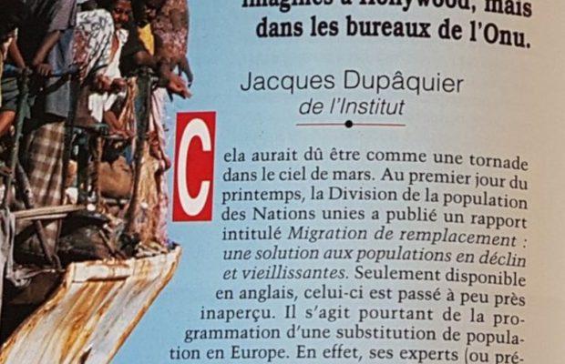 « L'ONU programme le raz-de-marée » : en avril 2000, un rapport préparait l'installation de 159 millions d'immigrés d'ici à 2025