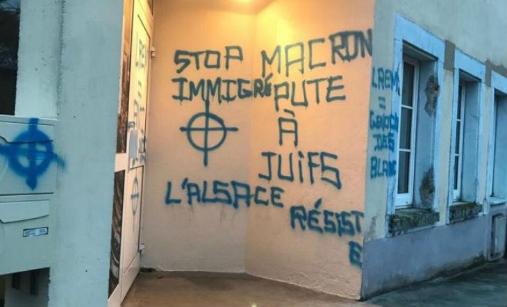 Strasbourg: Des tags antisémites sur la façade de la permanence d'un député «Macron p*** à juifs»