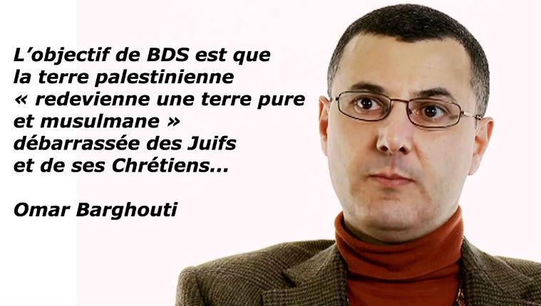Sur Mediapart, le gauchiste Cantaloube fait la promotion du mouvement islamiste et antisémite BDS dont le fondateur prône l'élimination des Juifs et l'établissement d'un Califat islamique
