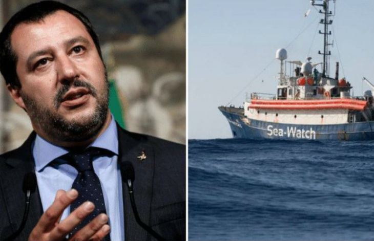 Salvini prévient un bateau allemand repéré près de la Libye : votre « cargaison de clandestins » n'arrivera jamais chez nous