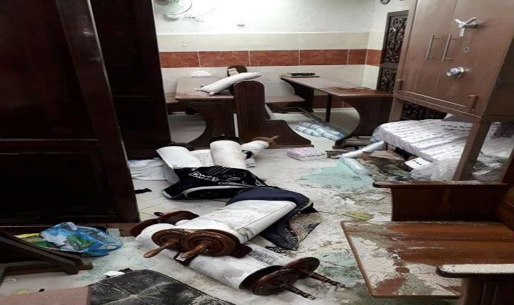 Mahmoud Abbas ne condamne pas le vandalisme de la synagogue francophone à Jérusalem