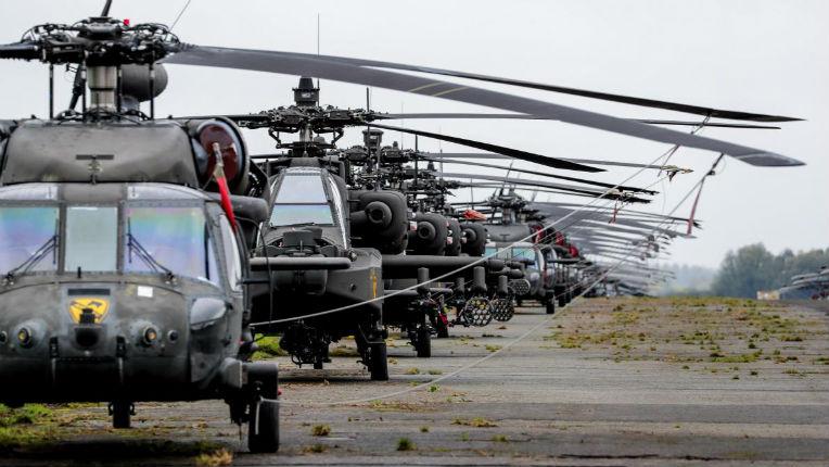 Plus de 80 hélicoptères américains transiteront la semaine prochaine par la Belgique