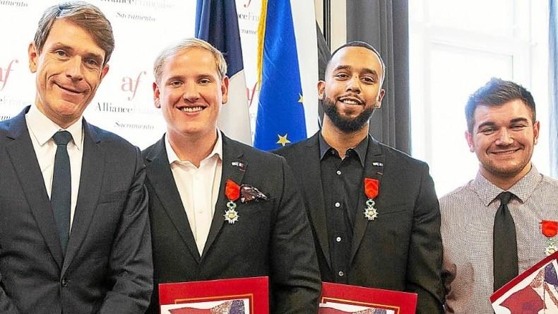 Les trois Américains ayant désarmé le terroriste islamiste dans le Thalys ont reçu la nationalité française