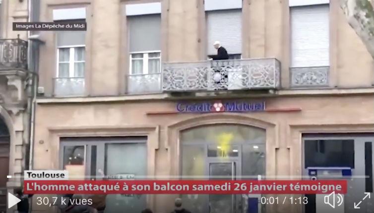 «Sale bourgeois, sale juif ! », un septuagénaire caillassé et blessé lors d'une manifestation de gilets jaunes à Toulouse (Vidéo)
