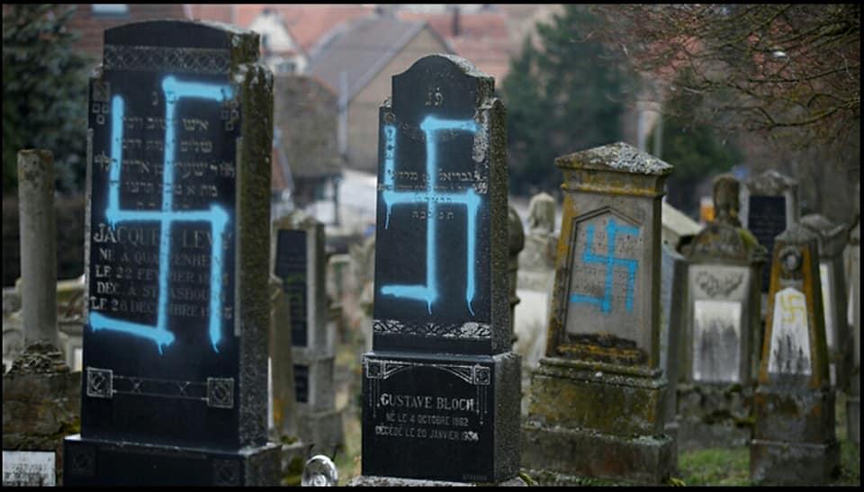 [Video] 80 tombes juives profanées de croix gammées en Alsace