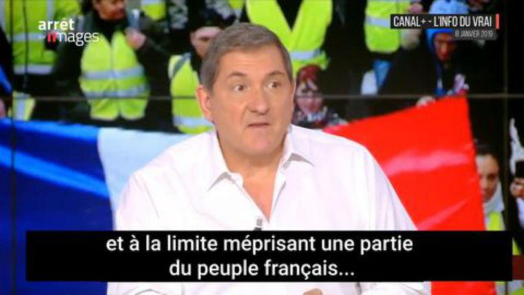 Yves Calvi discrédité par ses positions anti-gilets jaunes: les internautes l'accuse d'être un propagandiste pro-Macron(Vidéo)