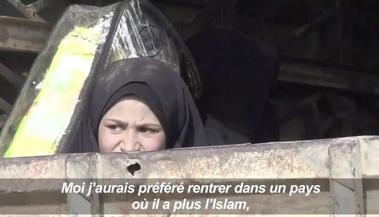 «Christelle» une djihadiste fuyant l'EI en Syrie : « Moi j'aurais préféré rentrer dans un pays où il y a plus d'Islam » (Vidéo)