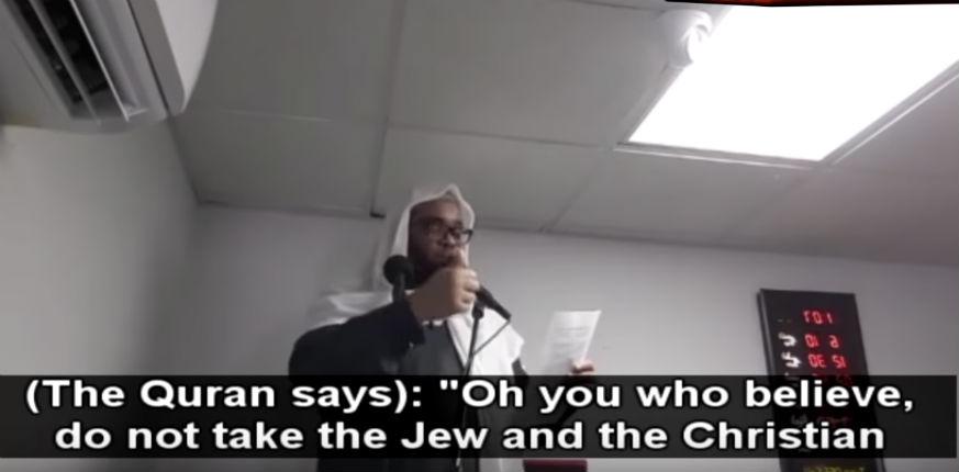 L'imam Aboul Baraa Amreeki explique que le Coran ordonne «Ne prenez pas pour alliés les juifs et les chrétiens» (Vidéo)
