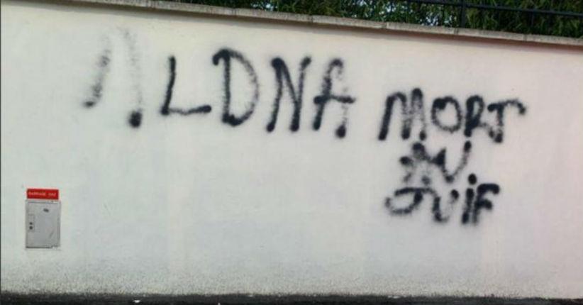 Bry-sur-Marne : Le tag «Mort au juif» découvert sur le mur de la synagogue avec la signature de la LDNA