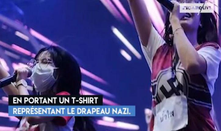 [Vidéo] Thaïlande: polémique autour d'une chanteuse arborant un t-shirt à croix gammée