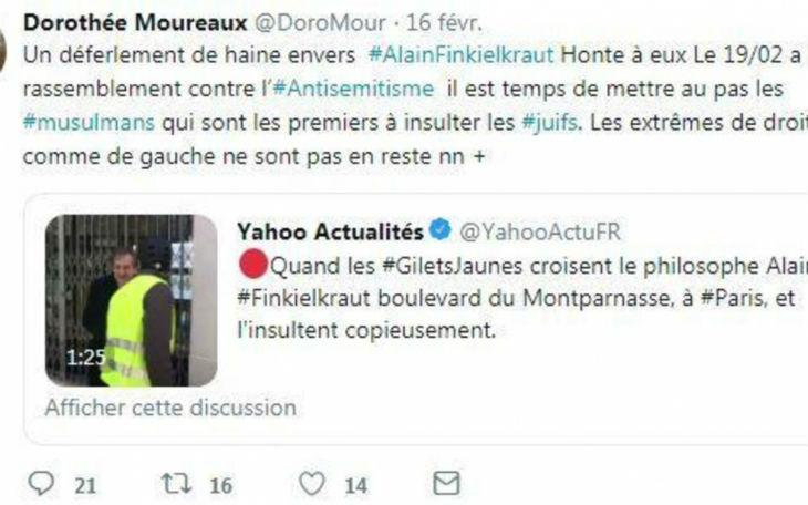 Antisémitisme : Une élue LR « Il est temps de mettre au pas les musulmans qui sont les premiers à insulter les juifs. »