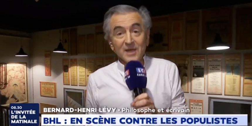 Pour BHL, en campagne contre le populisme et pour Macron, certains Gilets jaunes «ne pensent qu'à casser du flic, du juif et du pédé» (Vidéo)