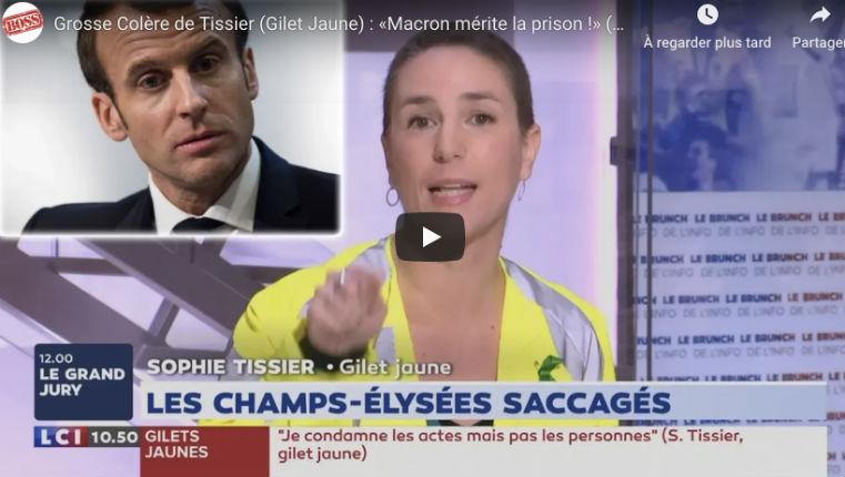 Colère de Sophie Tissier (Gilet Jaune) : «Macron est irresponsable, Macron est incompétent, il mérite la prison ! Il est en train de liquider le pays !» (Vidéo)
