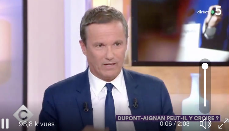 Clash entre Nicolas Dupont Aignan et Patrick Cohen «Monsieur Cohen est connu c'est un macroniste, il est sur le service public et il passe sa vie à cirer les pompes de Macron» (Vidéo)