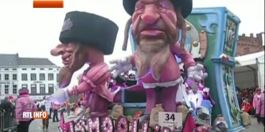 Belgique : un char satirique antisémite parade lors du carnaval d'Alost. Un antisémitisme «impensable» pour la commission européenne (Vidéo)