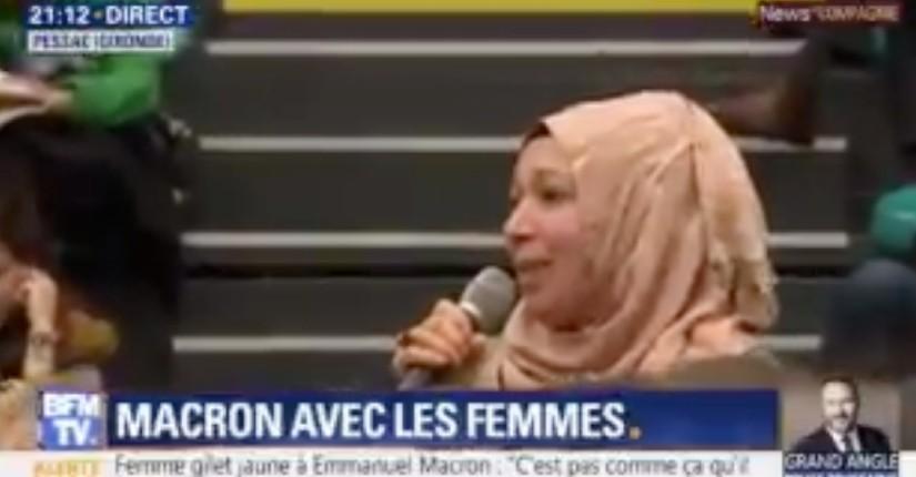 Grand débat: une femme voilée, en France clandestinement depuis 5 ans et ne parlant pas le français, demande des papiers pour «s'intégrer, apprendre et de travailler» (Vidéo)