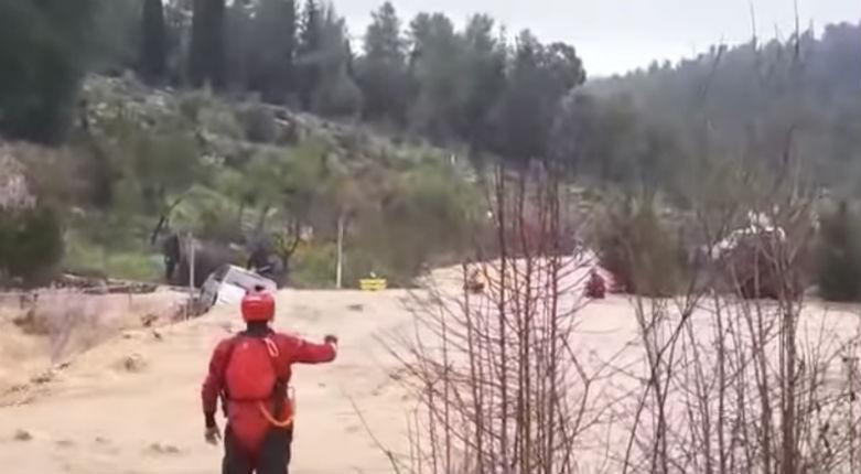 [Vidéo] Des hommes pris au piège sauvés d'inondations massives près de Jérusalem
