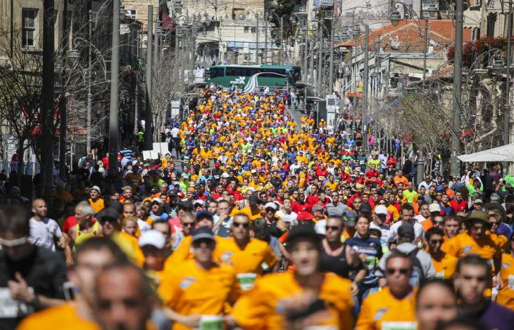 Record de participation : Le marathon de Jérusalem réunit plus de 40.000 coureurs de 80 nationalités différentes