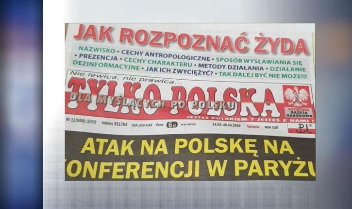 Scandale! un hebdomadaire d'extrême-droite polonais publie un article «comment reconnaître un Juif»