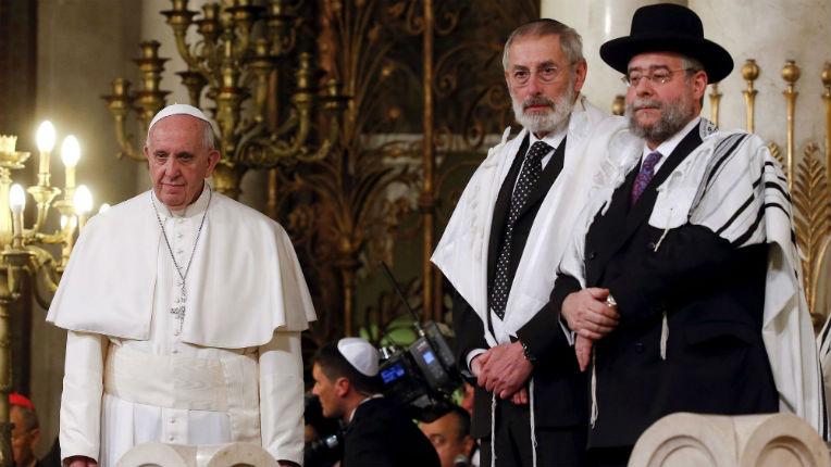 Le Pape François «Pour un chrétien, toute forme d'antisémitisme est un rejet de ses propres origines, une contradiction complète»