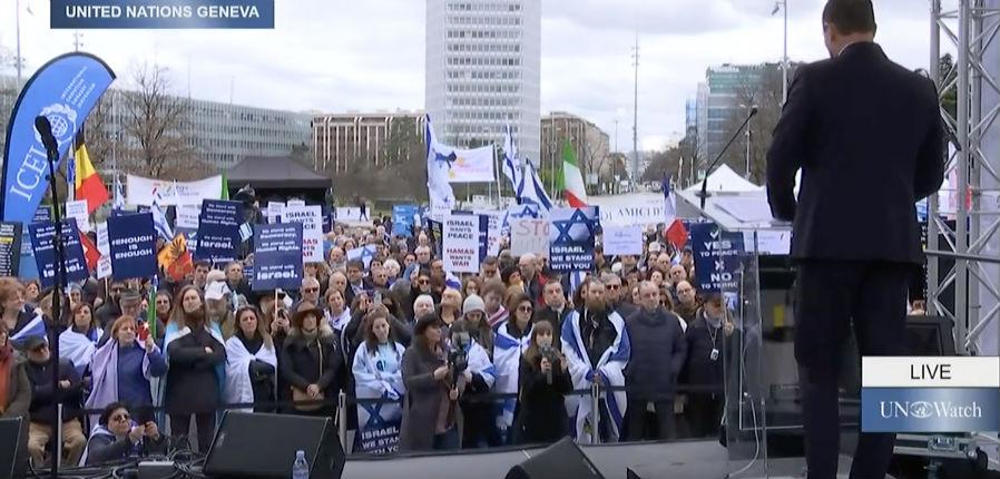 Mobilisation à Genève contre le parti pris anti-israélien à l'ONU, «C'est un signe de décadence intellectuelle et morale» dénonce l'ambassadeur américain (Vidéo)