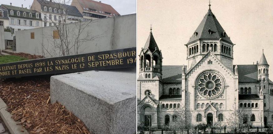 Strasbourg: la stèle de l'ancienne synagogue renversée, le maire dénonce l'antisémitisme