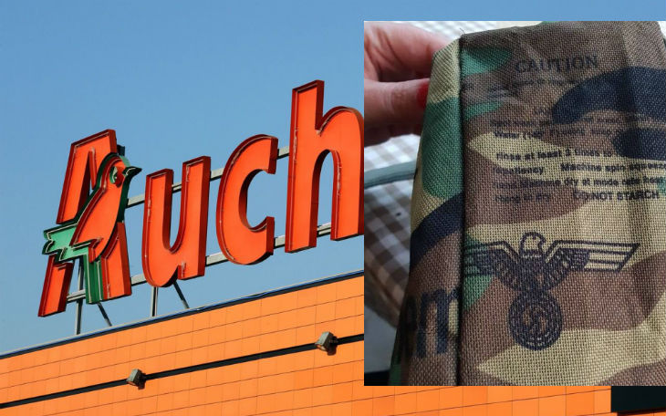 En Pologne, Auchan vendait des sacoches type «banane» avec une croix gammée nazie